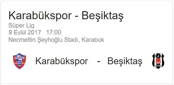 9 Eylül 2017 Karabükspor - Beşiktaş maçı iddaa oran analiz ve maç tahmini